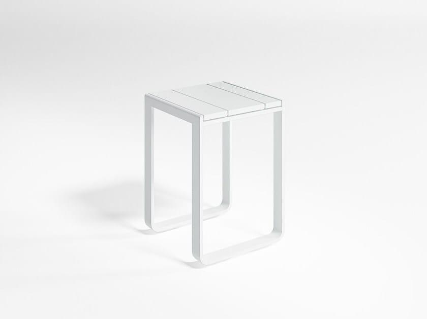 Thermo lacquered aluminium garden stool FLAT | Stool by GANDIA BLASCO