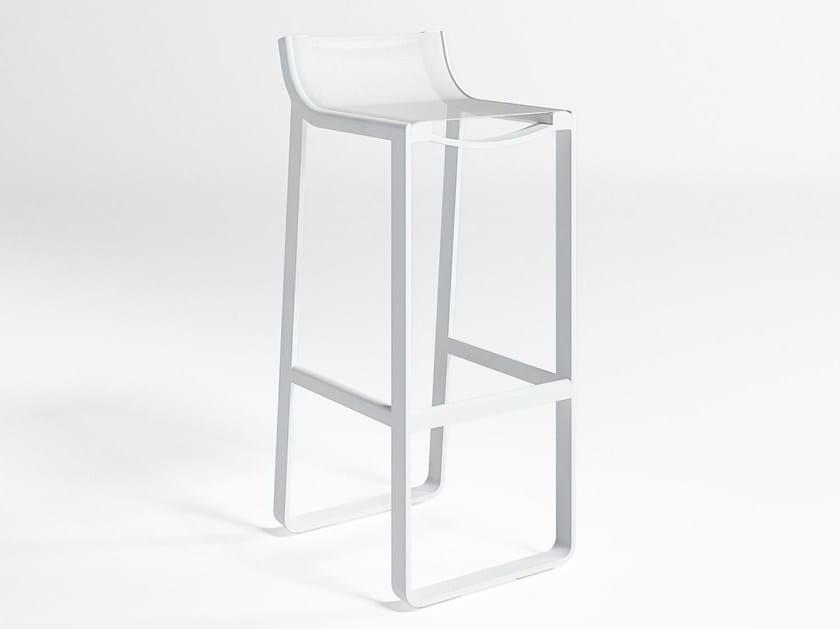 High garden stool with footrest FLAT TEXTIL | Garden stool - GANDIA BLASCO