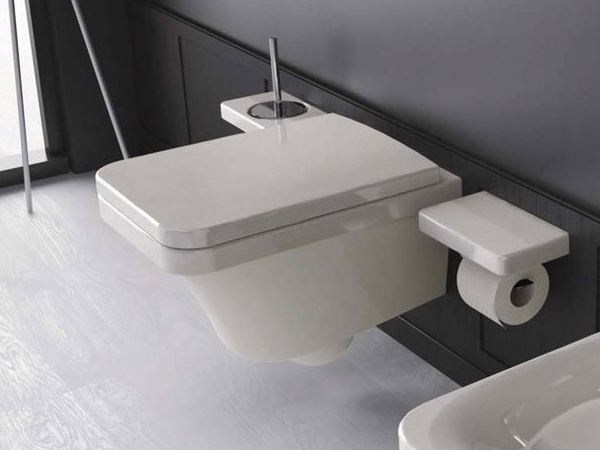 Wall-hung ceramic toilet FLAT | Wall-hung toilet - Hidra Ceramica