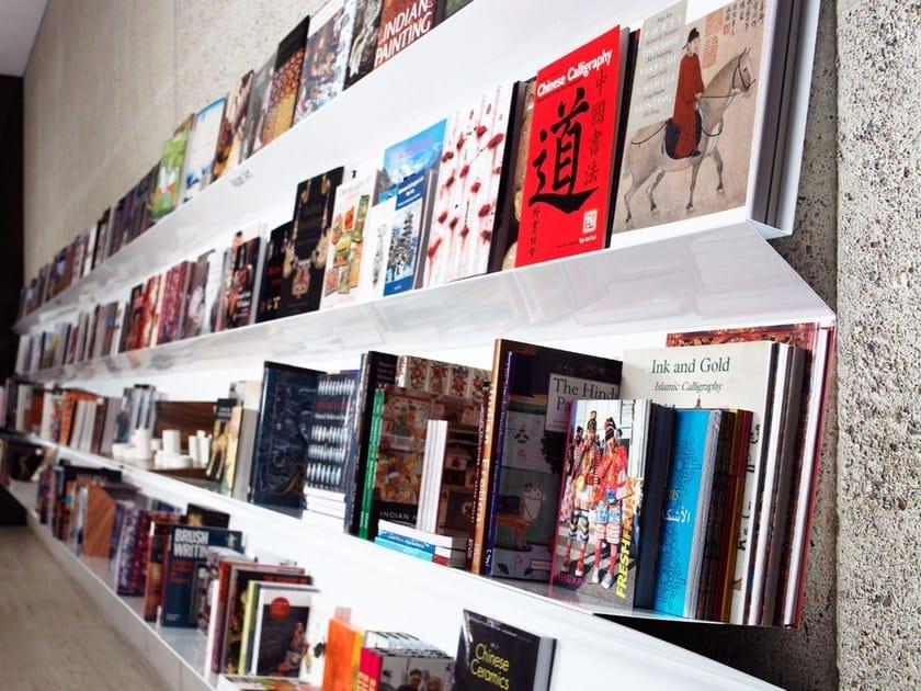 Wall-mounted steel bookcase FLATLINER WALL - Derlot Editions