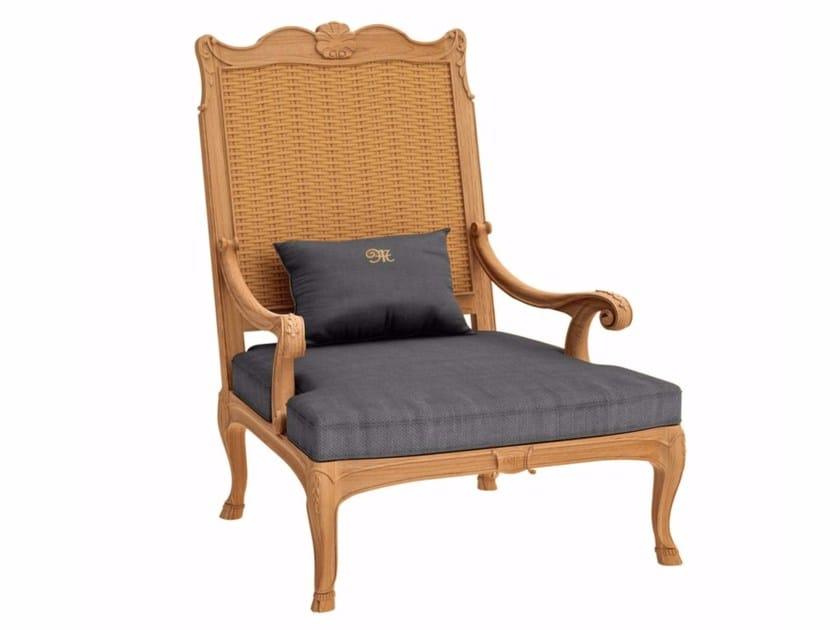 Bergere teak garden armchair FLEUR DE LYS | Bergere armchair - ASTELLO
