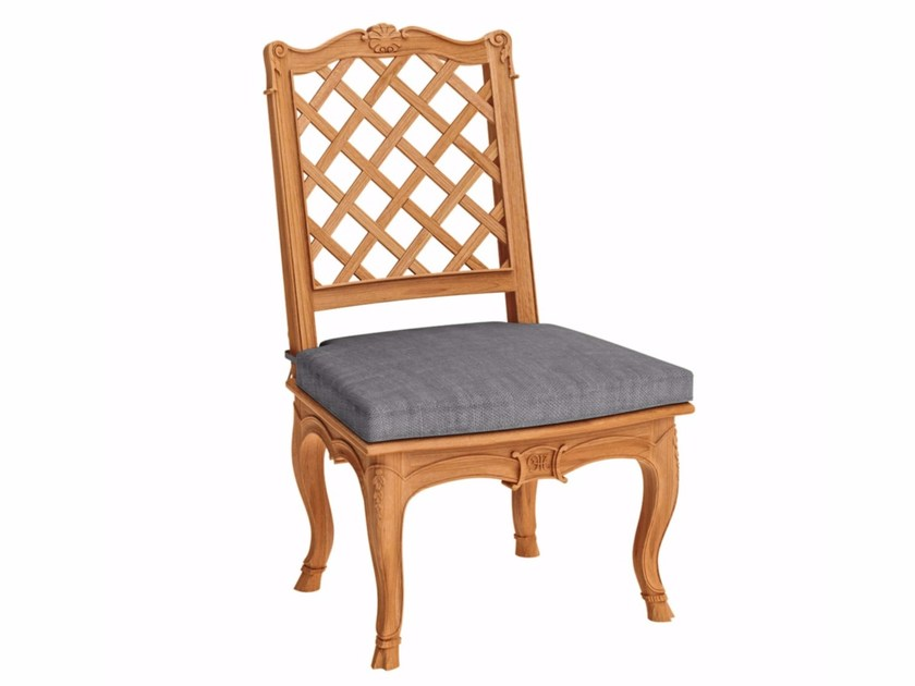 Teak garden chair FLEUR DE LYS | Garden chair - ASTELLO