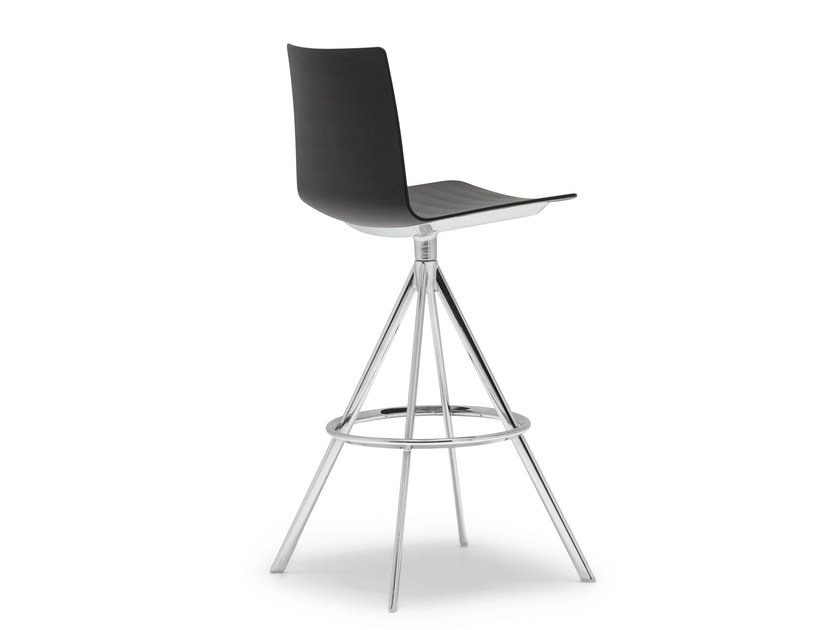 Trestle-based counter stool FLEX | Trestle-based chair - Andreu World