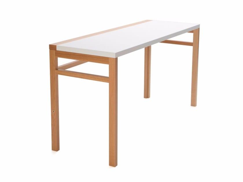 Folding wooden bench desk FLIP - Inno Interior Oy