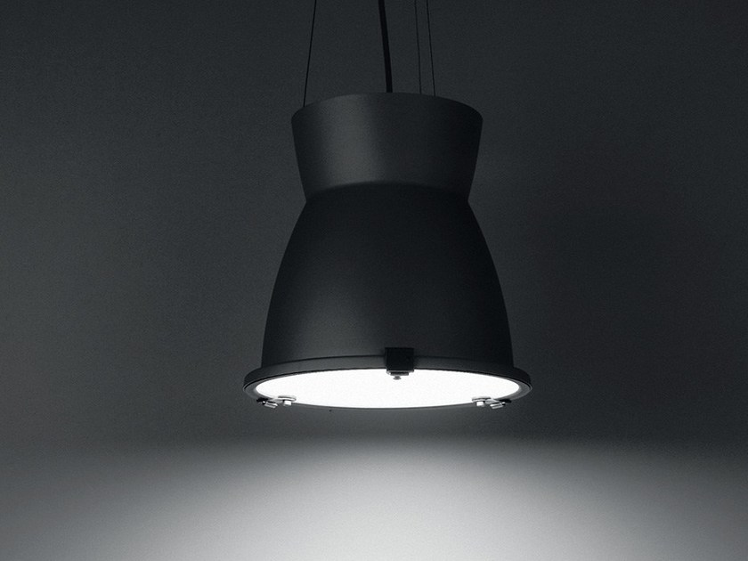 Contemporary style aluminium pendant lamp FLIPPER by LANZINI