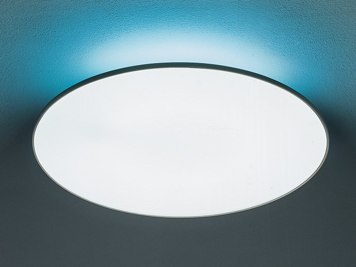 Direct-indirect light fluorescent polycarbonate ceiling light FLOAT CIRCLE | Ceiling light - Artemide