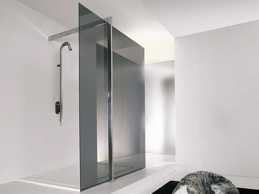 Stainless Steel Shower system FLOOR 1 by Kos by Zucchetti