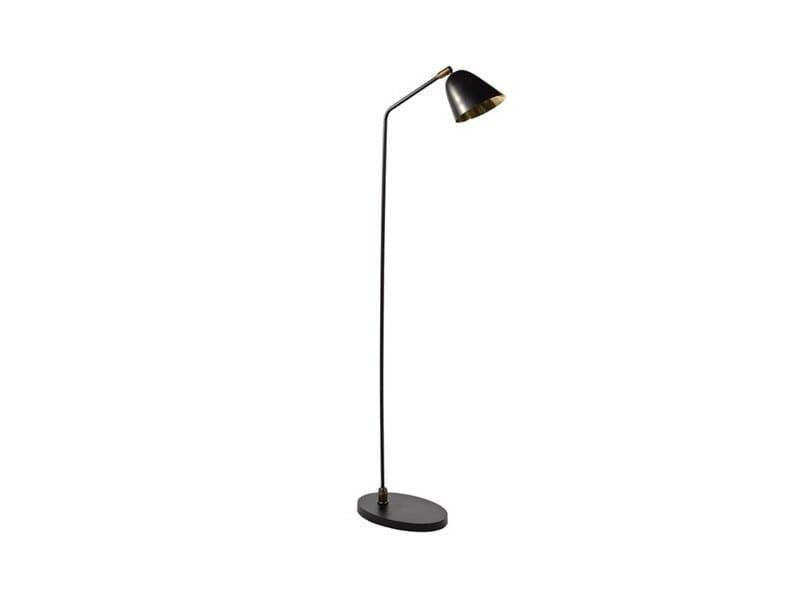 Lampada da terra orientabile in metallo FLOOR OVAL BLACK - Pols Potten