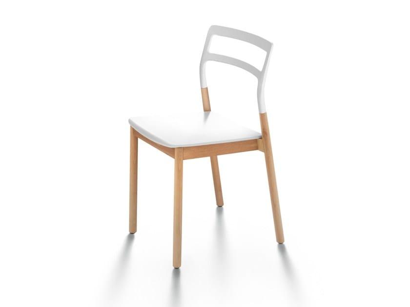 Stackable solid wood chair FLORINDA - DE PADOVA