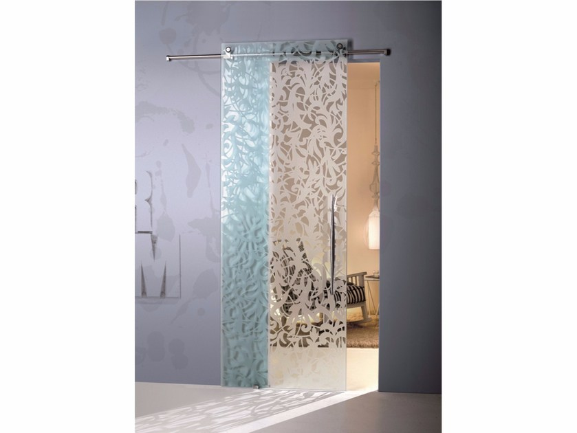 Glass sliding door FLORITA TRANSPARENT - Casali