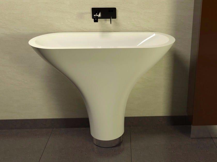 Freestanding Adamantx® washbasin FLOUNDER by ZAD ITALY
