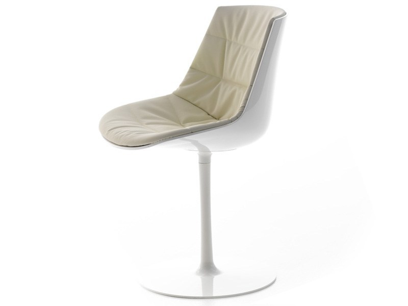 Swivel upholstered chair FLOW CHAIR | Swivel chair - MDF Italia