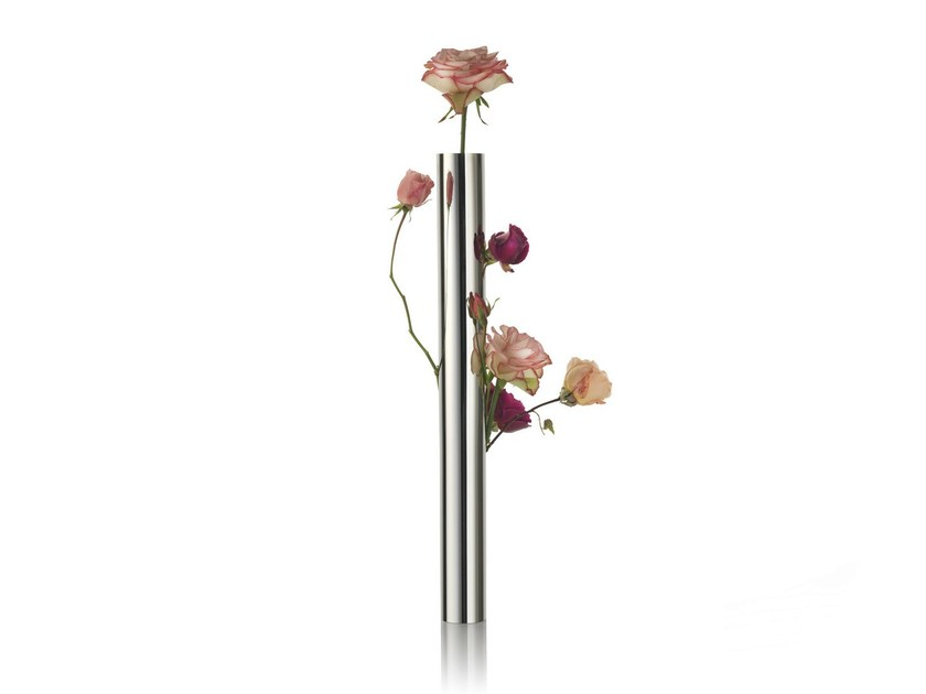 Stainless steel vase FLOWER VASE TUBE - ALESSI