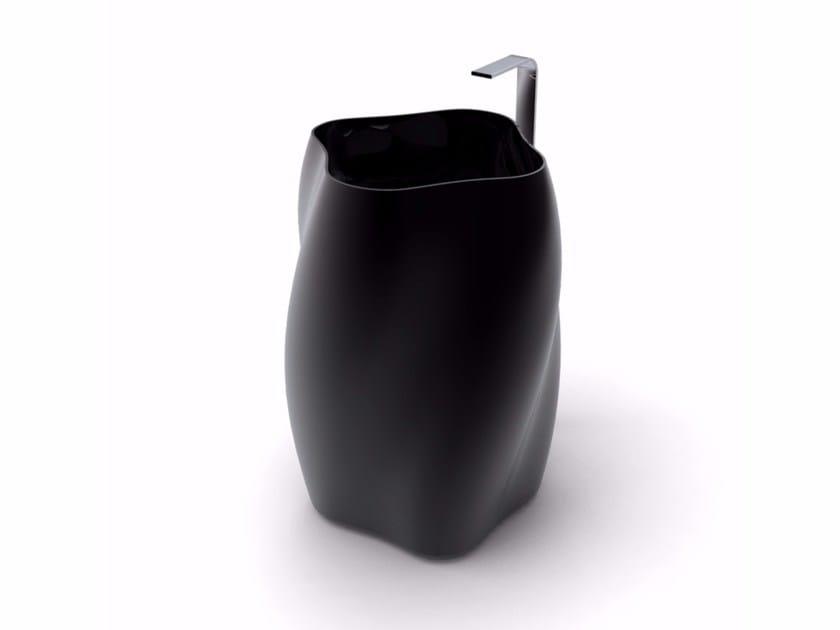 Freestanding Adamantx® washbasin FLOWER - ZAD ITALY