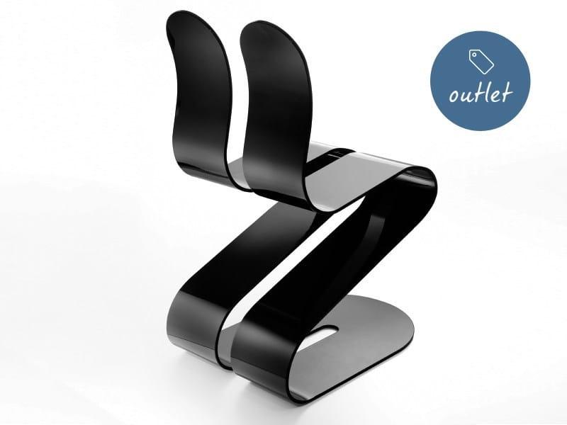 Stackable aluminium chair FLUID RIBBON | Lacquered chair by Lamberti Decor