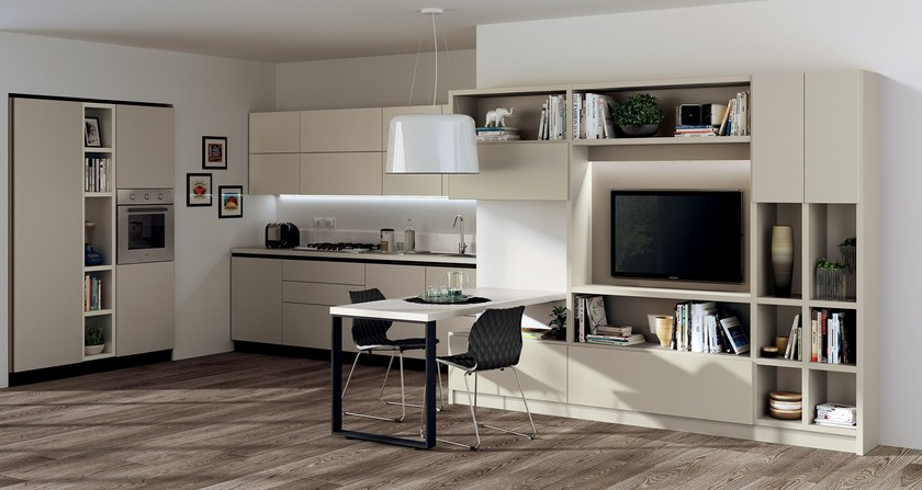 Fluida integrated kitchen module integrated living rooms for Scavolini prices