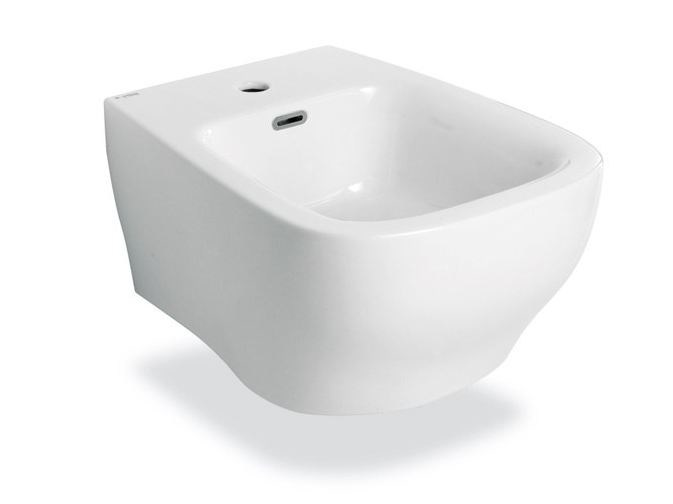 Wall-hung ceramic bidet FLUIDA | Wall-hung bidet by newform