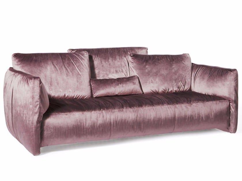 3 seater velvet sofa FLUON | Velvet sofa - Paolo Castelli