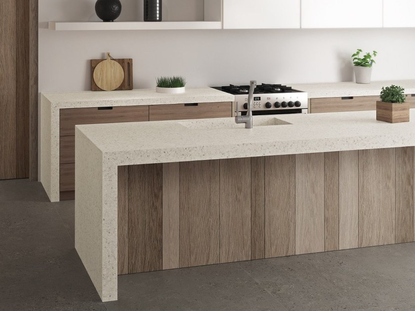 Porcelain stoneware kitchen worktop FLUORITE ITOPKER by Inalco