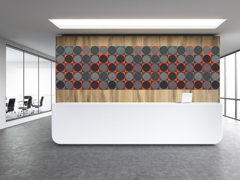 Felt wall tiles / decorative acoustical panel FLUX | Felt decorative acoustical panel by Friends of Wilson