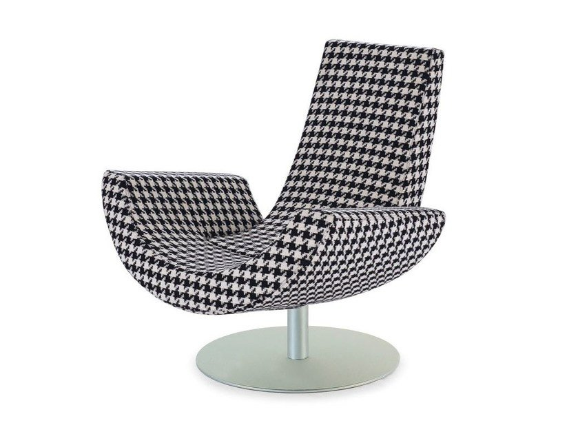 Swivel armchair with armrests FLY - Arketipo