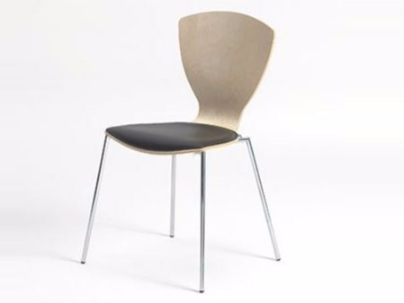 Stackable wood veneer chair FLY - Danerka