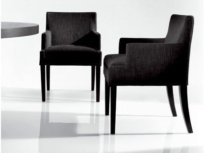 Fabric chair with armrests FLY | Fabric chair by Marac