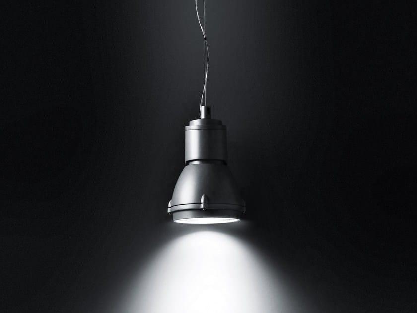 Metal halide fluorescent aluminium pendant lamp FOCUS SOSPENSIONE by SIMES