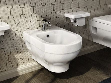 Wall-hung ceramic bidet FOCUS | Wall-hung bidet by Hidra Ceramica