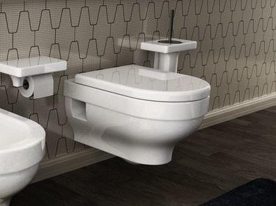 Wall-hung ceramic toilet FOCUS | Wall-hung toilet - Hidra Ceramica