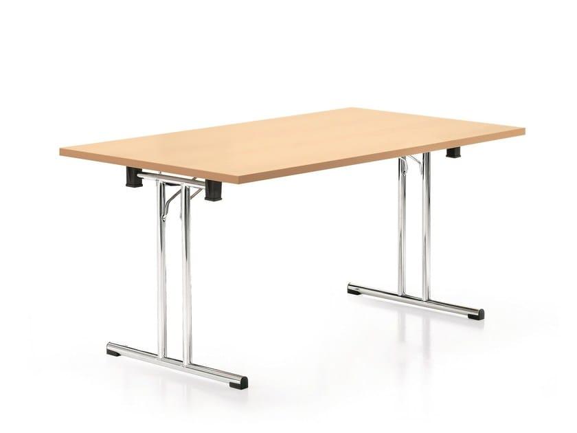 Folding rectangular meeting table FOLD | Folding meeting table by Emmegi