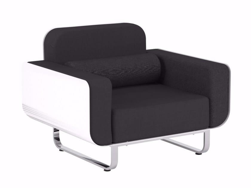 Sled base garden armchair with armrests FOLD | Garden armchair - ROYAL BOTANIA
