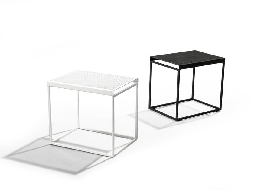 Rectangular powder coated aluminium side table FOLD - TRIBÙ