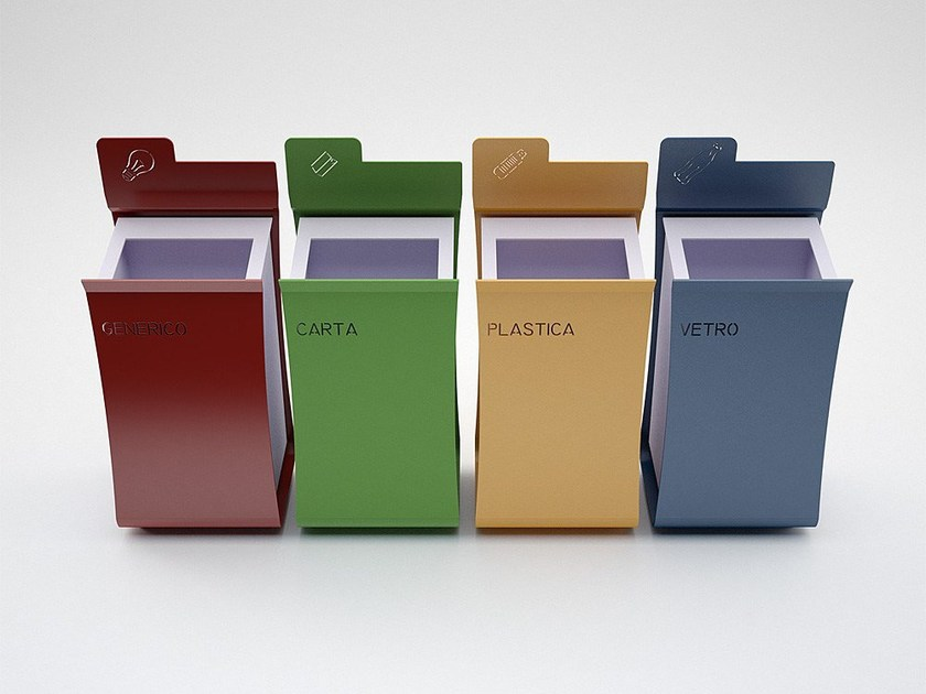 Zinc waste bin for waste sorting FOLDER - CITYSì