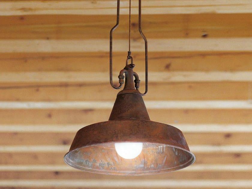 Direct-indirect light brass pendant lamp FONDERIA - Aldo Bernardi