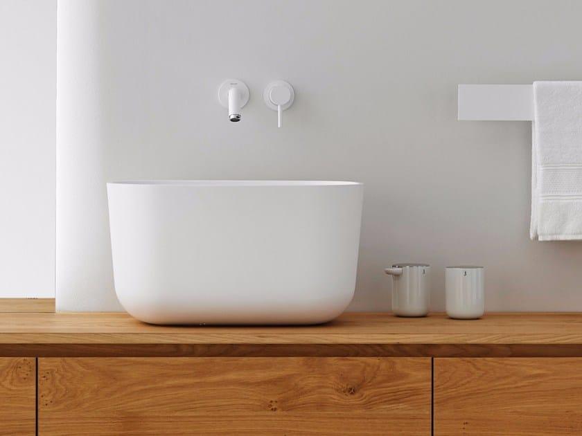 Countertop Solid Surface® washbasin FONTAIN - INBANI