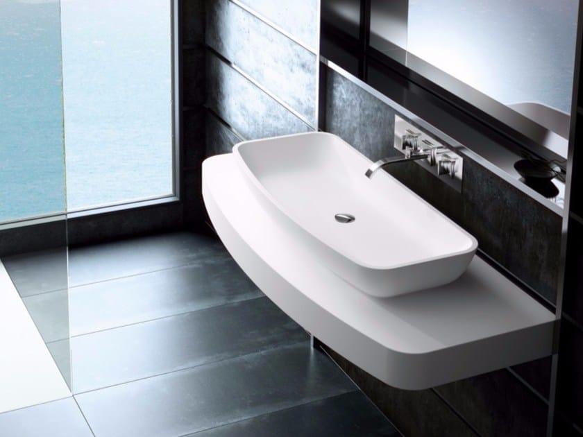 Countertop single Silexpol® washbasin with integrated countertop FONTANA ILCSC04 - Fiora