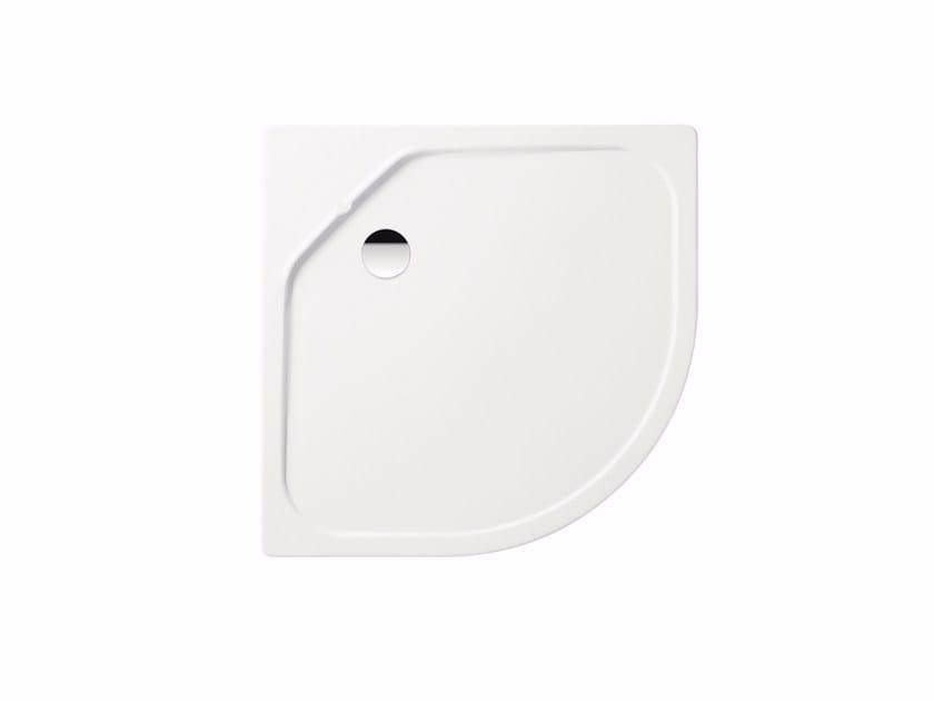 Corner built-in enamelled steel shower tray FONTANA by Kaldewei Italia