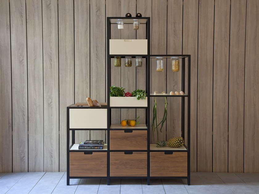 Wooden highboard with drawers FOOD STORAGE by Kann Design