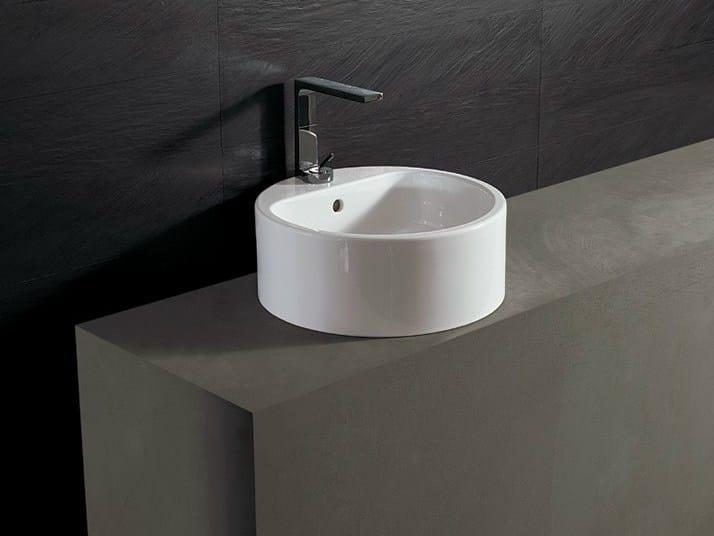 Round ceramic washbasin FORM 46 ROUND | Washbasin - Alice Ceramica