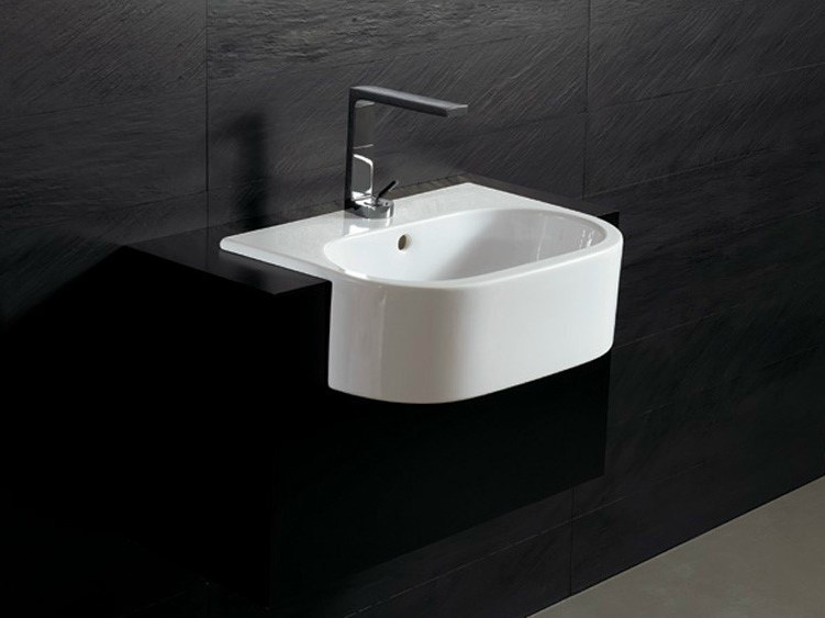 Semi-inset ceramic washbasin FORM 54 | Semi-inset washbasin - Alice Ceramica