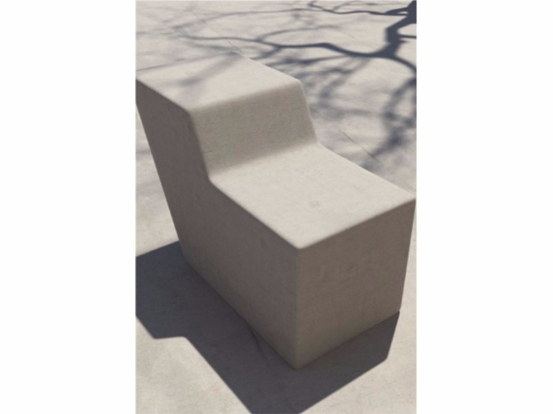 Concrete outdoor chair FORM | Concrete outdoor chair by SIT