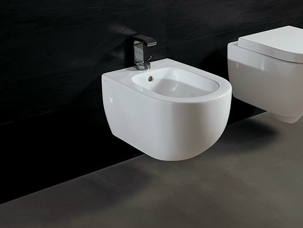 Wall-hung ceramic bidet FORM | Wall-hung bidet - Alice Ceramica