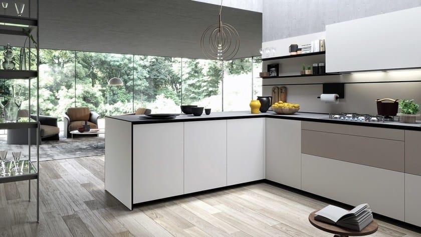Cucina componibile con penisola forma mentis angel skin - Strutture mobili cucina ikea ...