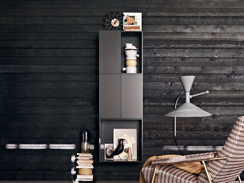 Modular suspended highboard FORTEPIANO | Highboard by Molteni