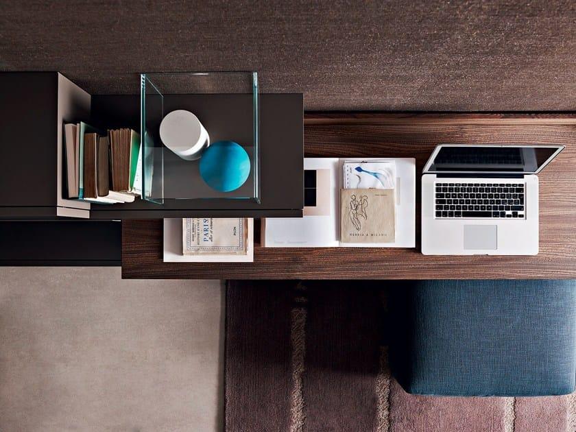 Wooden secretary desk FORTEPIANO | Secretary desk - MOLTENI & C.