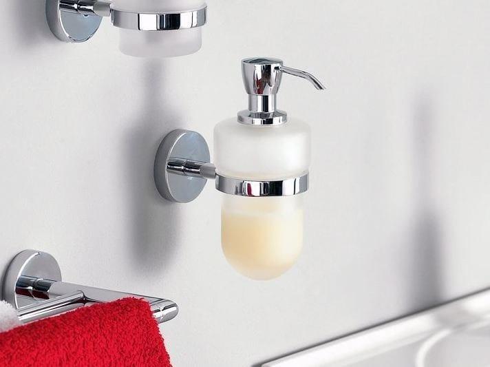 Dispenser di sapone liquido da parete in vetro satinato FORUM | Dispenser di sapone liquido - INDA®