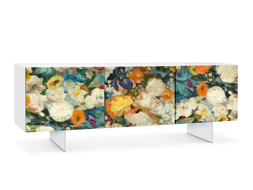 Lacquered sideboard with doors FLORA | Sideboard - Oliver B.