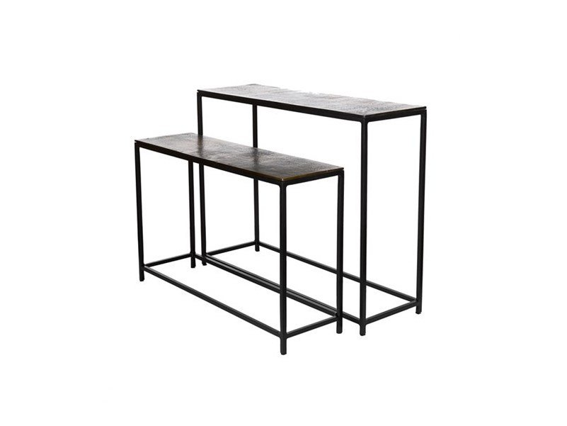 Rectangular metal console table FRAME | Console table - Pols Potten