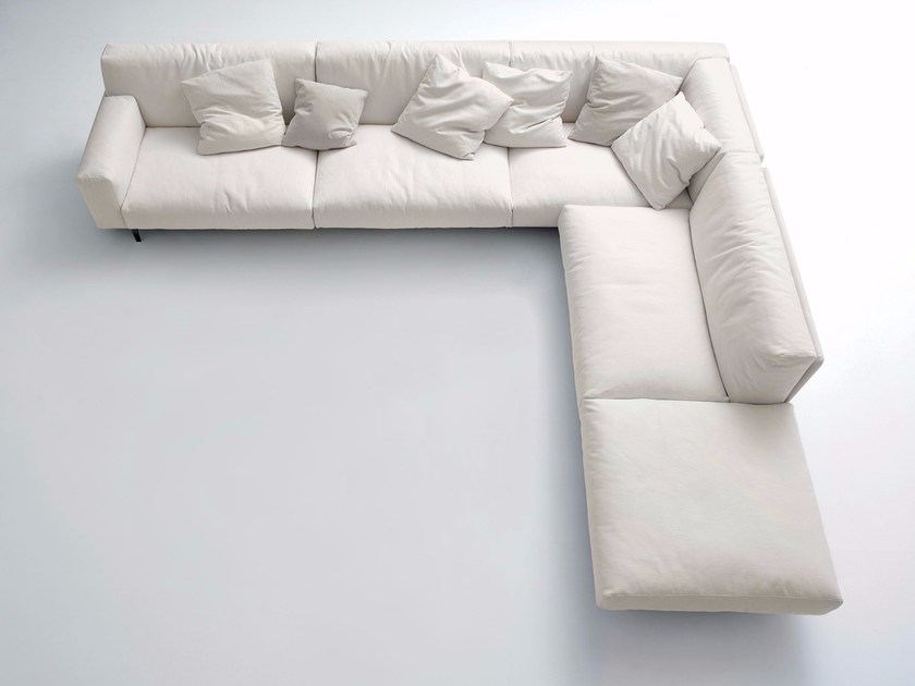 Corner upholstered fabric sofa FRAME | Corner sofa - arflex